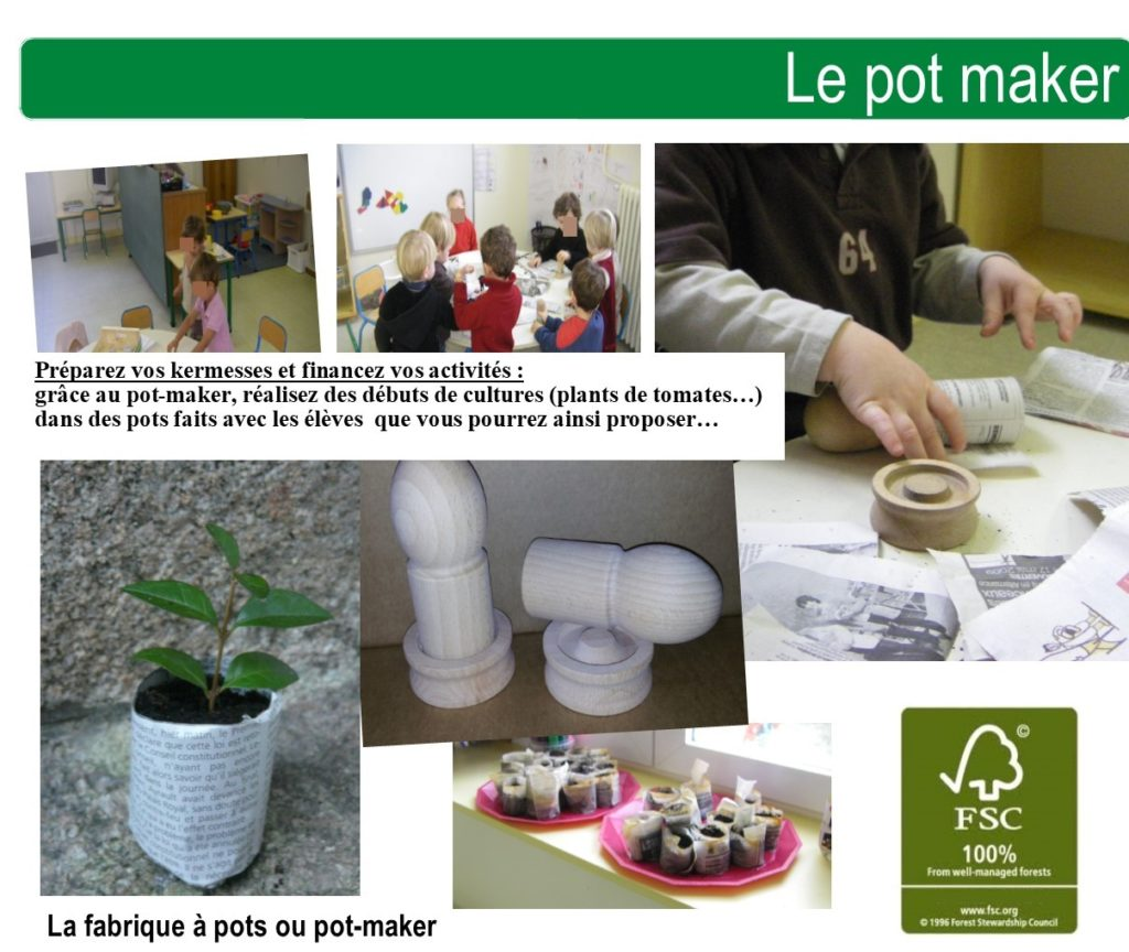 kit fabricationd e pot pour école pot maker